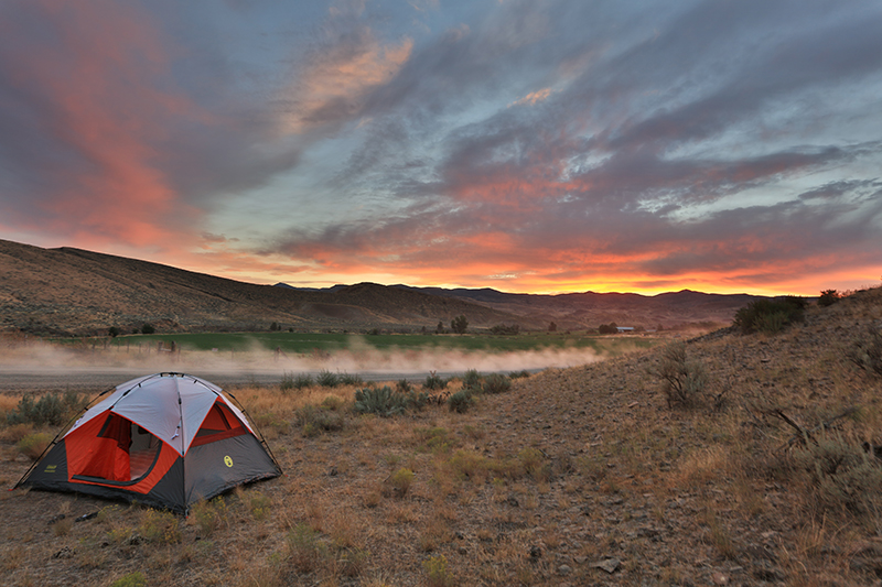 Camping Tent and The Sunset Landscape Photo 18 NV Holden Photography