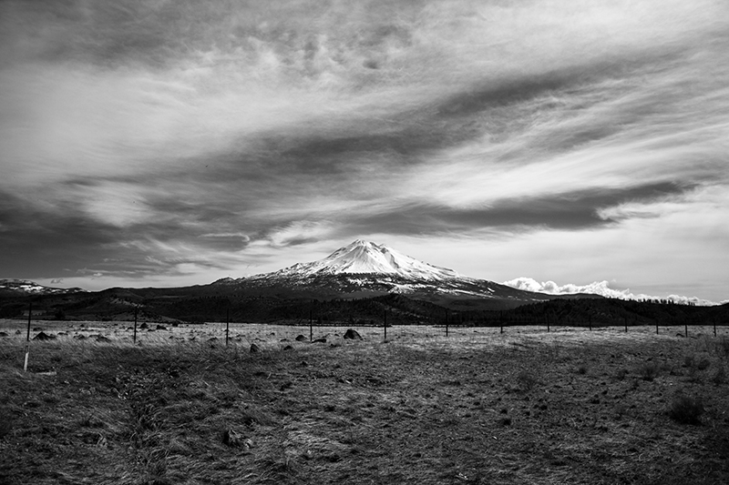 Snowy Mountain In Black And White Landscape Photo 2 NV Holden Photography